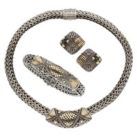 Gold, Sterling Silver Jewelry Suite, John Hardy