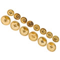 Estate Jewelry:Other, Gold Buttons. ... (Total: 14 Items)
