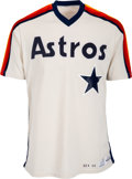 Baseball Collectibles:Uniforms, 1983 Gordie Pladson Game Issued Houston Astros Jersey. ...