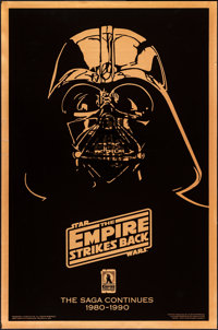 "The Empire Strikes Back (20th Century Fox, R-1990). Rolled, Near Mint. 10th Anniversary Gold Mylar One Sheet (27"" X..."