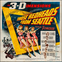 """Those Redheads from Seattle (Paramount, 1953). Folded, Very Fine-. Six Sheet (80"""" X 79"""") 3-D Style. Musical..."""