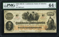 Confederate Notes:1862 Issues, T41 $100 1862 PF-22 Cr. 320A PMG Choice Uncirculated 64 EPQ.. ...