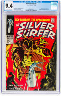 Silver Age (1956-1969):Superhero, The Silver Surfer #3 (Marvel, 1968) CGC NM 9.4 Off-white to whitepages....