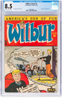 Wilbur Comics #5 (Archie, 1945) CGC VF+ 8.5 Off-white to white pages