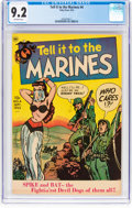 Golden Age (1938-1955):War, Tell it to the Marines #4 (Toby Publishing, 1952) CGC NM- 9.2 Off-white pages....