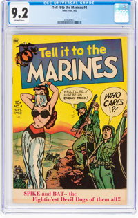Tell it to the Marines #4 (Toby Publishing, 1952) CGC NM- 9.2 Off-white pages