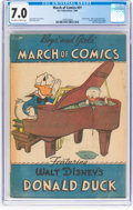 Golden Age (1938-1955):Funny Animal, March of Comics #41 Donald Duck (K. K. Publications, Inc., 1949)CGC FN/VF 7.0 Off-white to white pages....
