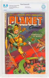 Planet Comics #71 (Fiction House, 1953) CBCS VF 8.0 Off-white to white pages