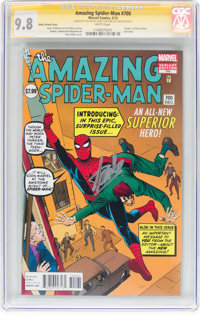 The Amazing Spider-Man #700 Ditko Variant Cover Edition - Signature Series (Marvel, 2013) CGC NM/MT 9.8 White pages