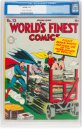 Golden Age (1938-1955):Superhero, World's Finest Comics #13 (DC, 1944) CGC VF/NM 9.0 Cream to off-white pages....