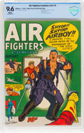 Golden Age (1938-1955):War, Air Fighters Comics V2#4 Mile High Pedigree (Hillman Fall, 1944) CBCS NM+ 9.6 White pages....