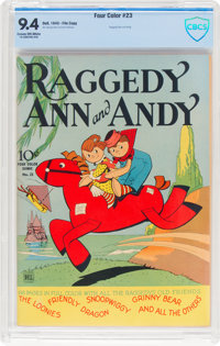 Four Color #23 Raggedy Ann and Andy - File Copy (Dell, 1943) CBCS NM 9.4 Cream to off-white pages