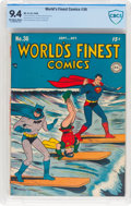 Golden Age (1938-1955):Superhero, World's Finest Comics #36 (DC, 1948) CBCS NM 9.4 Off-white to white pages....
