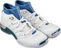 Basketball Collectibles:Others, 2001-02 Michael Jordan Game Worn Washington Wizards Sneakers withCustomized Orthotics....
