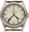 Timepieces:Wristwatch, Rolex, Vintage Ref. 6020 Oyster Speedking, Retailed by Shreve, withSuper Oyster Crown, Stainless Steel, Manual Wind, Circa 1...