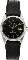 Timepieces:Wristwatch, Rolex, Vintage Ref. 1500 Oyster Perpetual Date, Stainless Steel, Circa 1971. ...