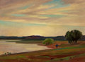 Fine Art - Painting, American, Olin Travis (American, 1888-1975). Abilene Lake. Oil oncanvasboard. 18 x 24 inches (45.7 x 61.0 cm). Signed lower right...
