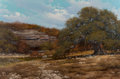 Fine Art - Painting, American, William A. Slaughter (American, 1923-2003). Hill Country,1976. Oil on canvas. 24 x 36 inches (61.0 x 91.4 cm). Signed a...