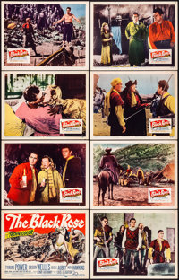"""The Black Rose & Other Lot (20th Century Fox, 1950). Fine/Very Fine. Lobby Card Sets of 8 (2 Sets) (11"""" X 14&qu..."""