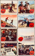 """Movie Posters:Western, The Walking Hills & Other Lot (Columbia, 1949). Fine/Very Fine.Lobby Card Sets of 8 (2 Sets) & Lobby Card Set of 4 (11"""" X 1...(Total: 20 Items)"""
