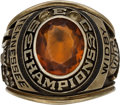 Basketball Collectibles:Others, 1967 Tennessee Volunteers SEC Championship Ring Presented to RonWidby....