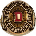 Football Collectibles:Others, 1962 Dallas Texans American Football League Championship Ring Presented to Linebacker Sherrill Headrick....