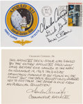 "Explorers:Space Exploration, Apollo 12 Crew-Signed Cover, Essentially a ""Type One"" Insurance Cover, Originally from the Personal Collection of Mission ..."