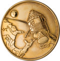 Explorers:Space Exploration, Apollo 1 Gilt Fliteline Medallion Originally from the Personal Collection of Mission Commander Gus Grissom, with a Signed COA ...