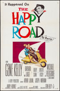 Movie Posters:Comedy, The Happy Road (MGM, 1957). Folded, Very Fine-. On...
