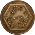 Explorers:Space Exploration, Gemini 6A Flown Gilt Fliteline Medallion Originally from the Personal Collection of Mission Pilot Tom Stafford, with His Signe...