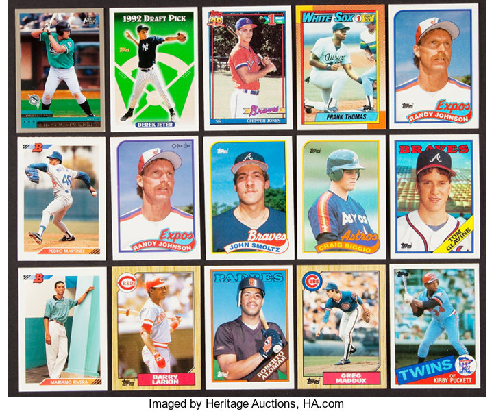 1985 2000 Baseball Hall Of Famers Rookie Card Hoard 293