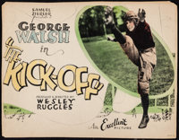 "The Kick-Off (Excellent, 1926). Fine+. Trimmed Title Lobby Card (10.25"" X 13.25""). Drama"
