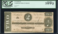 Confederate Notes:1864 Issues, T70 $2 1864 PF-4 Cr. 566 PCGS Very Fine 35PPQ.. ...