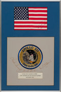 Explorers:Space Exploration, Apollo 12 Flown American Flag in a Crew-Signed Presentation Originally from the Personal Collection of Mission Lunar Module Pi...