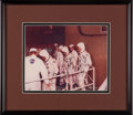 Explorers:Space Exploration, Apollo 1 Crew-Signed White Spacesuit Training Color Photo in Framed Display. ...