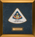 Explorers:Space Exploration, Apollo 8 Flown Beta Cloth Mission Insignia Originally from the Personal Collection of Mission Command Module Pilot James Lovel...