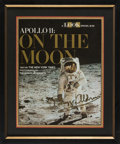 """Explorers:Space Exploration, Buzz Aldrin Signed LOOK Magazine """"Visor"""" Photo """"Apollo 11: On The Moon"""" Special Issue Cover with Novaspace Certifi..."""