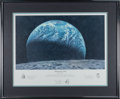 "Explorers:Space Exploration, Alan Bean Signed ""Kissing the Earth"" Limited Edition, #97//650, Color Print, also Signed by Charles Conrad and Richard Gordon,..."