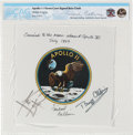 Explorers:Space Exploration, Apollo 11 Flown and Crew-Signed Beta Cloth Mission Insignia Directly from the Personal Collection of Mission Command Module Pi...
