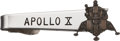Explorers:Space Exploration, Apollo 10 Lunar Module Flown LM Charm on Tie Clasp Originally from the Personal Collection of Mission Commander Tom Stafford, ...