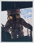 Explorers:Space Exploration, Charles Conrad Signed Lunar Surface Color Photo Quoting His Humorous First Words on the Moon. ...