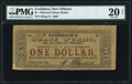 Obsoletes By State:Louisiana, New Orleans, LA- Peterson's Brass Works $1 Mar. 1862 PMG Very Fine 20 Net.. ...
