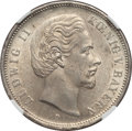 German States, German States: Bavaria. Ludwig II 5 Mark 1876-D MS62 NGC,...