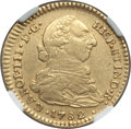 Colombia, Colombia: Charles III gold 2 Escudos 1782 P-SF AU50 NGC,...