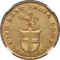 India:British India, India: British India. Madras Presidency gold 5 Rupees (1/3 Mohur) ND (1820) MS61 NGC,...