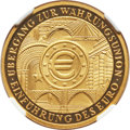 """Germany: Federal Republic gold Proof """"Introduction of the Euro"""" 100 Euro 2002-A PR70 Ultra Cameo NGC"""
