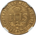 German States, German States: Saxony. Johann Georg I gold Restrike Ducat1616-Dated (c. 18th-19th Century) UNC Details (Cleaned) NGC,...
