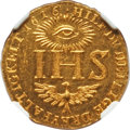 German States:Saxony, German States: Saxony. Johann Georg I gold Restrike Ducat 1616-Dated (c. 18th-19th Century) MS62 Prooflike NGC,...