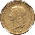 Colombia, Colombia: Republic gold 10 Pesos 1861 VF35 NGC,...