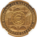 """Germany: Federal Republic gold Proof """"Introduction of the Euro"""" 100 Euro 2002-J PR70 Ultra Cameo NGC"""